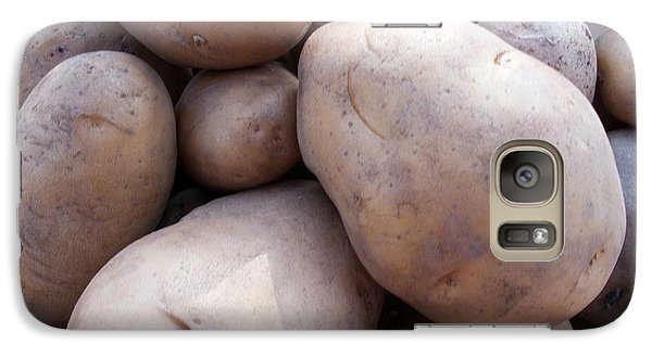 Galaxy Case featuring the photograph A Pile Of Large Lumpy Raw Potatoes by Ashish Agarwal