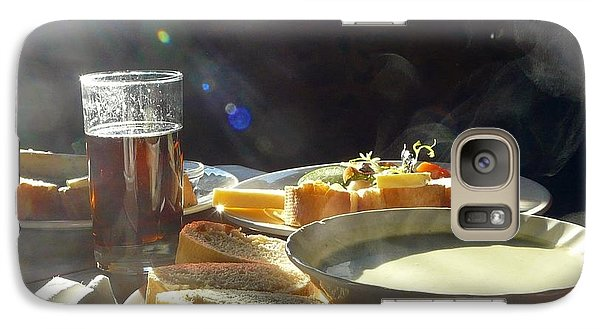 Galaxy Case featuring the photograph A Ploughman's Lunch by Rdr Creative