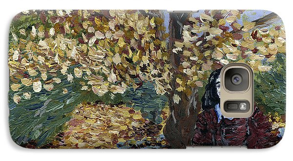Galaxy Case featuring the painting A Portrait Of The Artist's Mother In Autumn by Denny Morreale