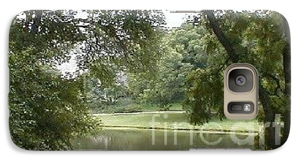 Galaxy Case featuring the photograph A Quiet Place by Vonda Lawson-Rosa