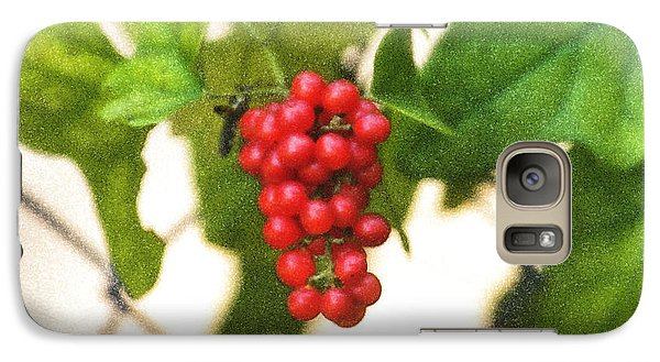 Galaxy Case featuring the photograph A Red Cluster by Joan Bertucci