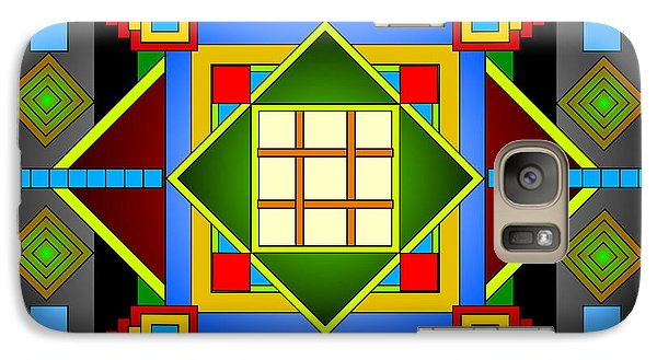 Galaxy Case featuring the digital art A Riot Of Squares by Mario Carini