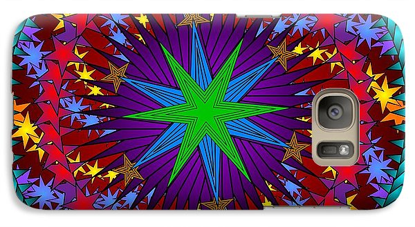 Galaxy Case featuring the digital art A Riot Of Stars by Mario Carini