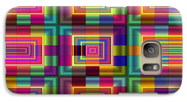 Galaxy Case featuring the digital art A Sense Of Squares by Mario Carini