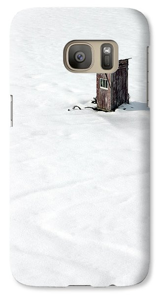 Galaxy Case featuring the photograph A Snowy Path by Karen Lee Ensley