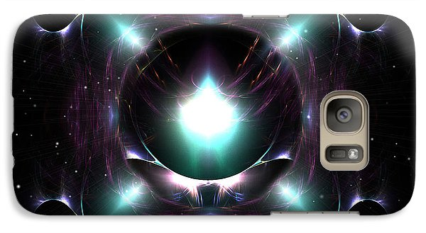 Galaxy Case featuring the digital art A Spacial Odyssey by Mario Carini