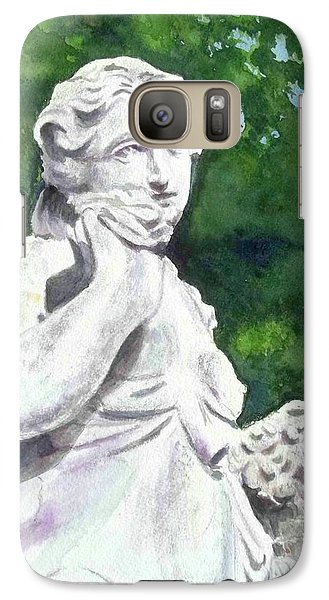 Galaxy Case featuring the painting A Statue At The Wellers Carriage House -1 by Yoshiko Mishina