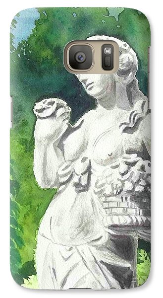 Galaxy Case featuring the painting A Statue At The Wellers Carriage House -2 by Yoshiko Mishina