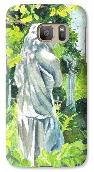 Galaxy Case featuring the painting A Statue At The Wellers Carriage House -3 by Yoshiko Mishina