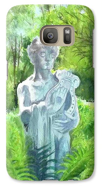 Galaxy Case featuring the painting A Statue At The Wellers Carriage House -4 by Yoshiko Mishina