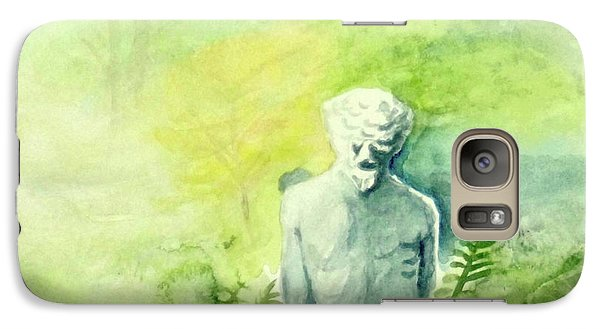 Galaxy Case featuring the painting A Statue At The Wellers Carriage House -5 by Yoshiko Mishina