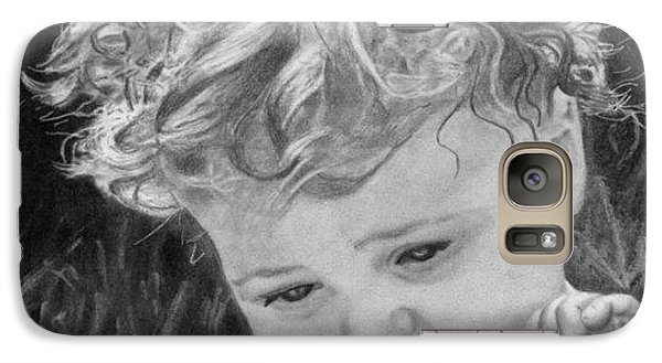 Galaxy Case featuring the drawing A Taste Of Summer by Ana Tirolese