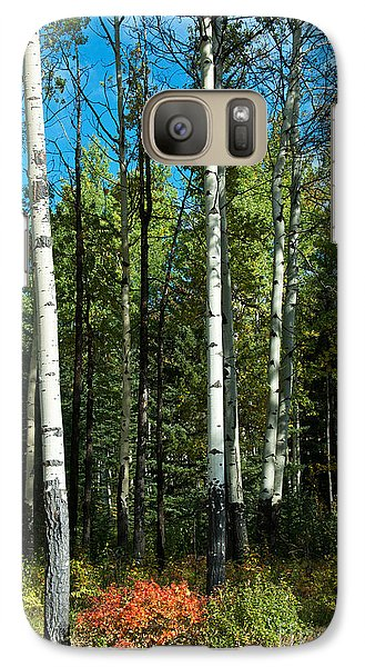 Galaxy Case featuring the photograph A Touch Of Autumn by Bob and Nancy Kendrick
