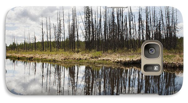Galaxy Case featuring the photograph A Tranquil River With A Reflection by Susan Dykstra