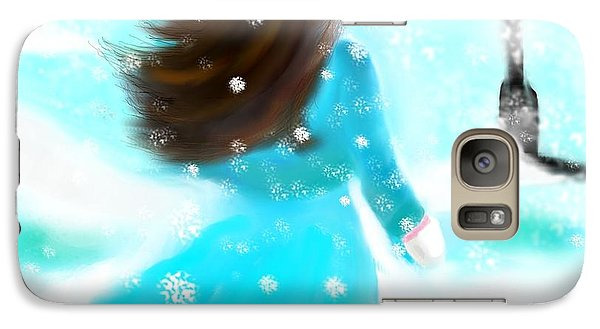 Galaxy Case featuring the painting A Winter Day by Lori  Lovetere