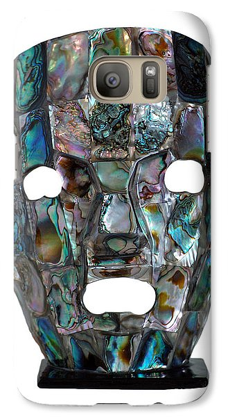 Galaxy Case featuring the photograph Abalone Mayan Mask by Shawn O'Brien