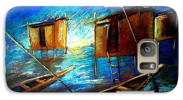 Galaxy Case featuring the painting Abandoned At Aleibri by Oyoroko Ken ochuko