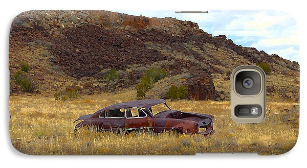 Galaxy Case featuring the photograph Abandoned Car by Steve McKinzie