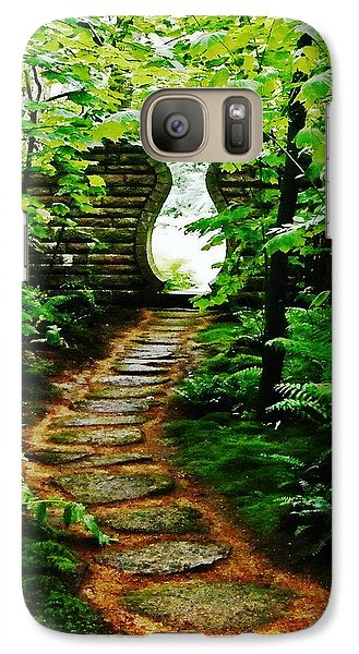 Galaxy Case featuring the photograph Abby Aldrich Rockefeller Oriental Garden Gate by Lizi Beard-Ward