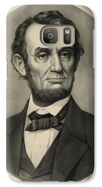 Galaxy Case featuring the photograph Abraham Lincoln Portrait by International  Images