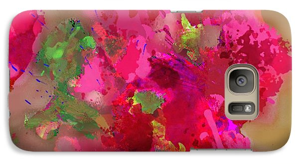 Galaxy Case featuring the painting Abstract Bougainvillea Painting Floral Wall Art by Judy Filarecki