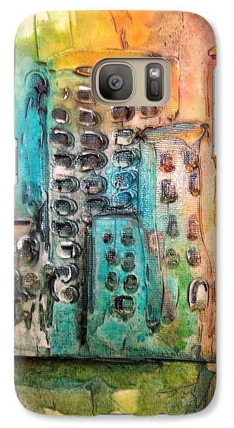 Galaxy Case featuring the painting Abstract Cityscape by Mary Kay Holladay