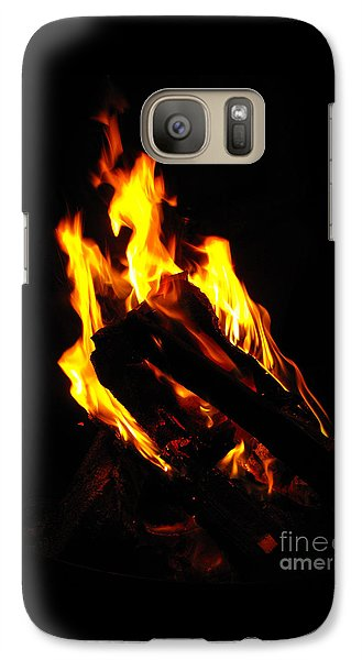 Galaxy Case featuring the photograph Abstract Phoenix Fire by Rebecca Margraf