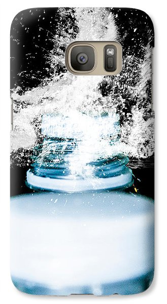 Galaxy Case featuring the photograph Abstract Water Spill by Ester  Rogers