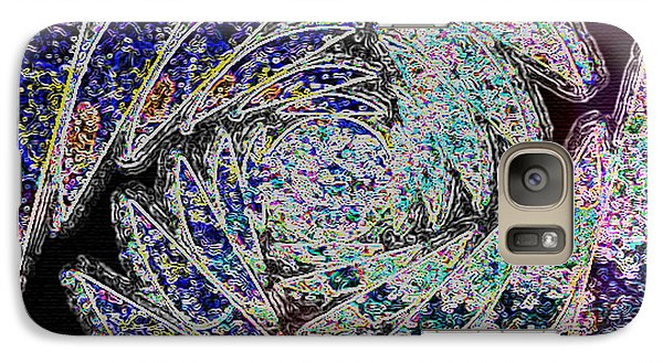 Galaxy Case featuring the painting Abstraction by Paula Ayers