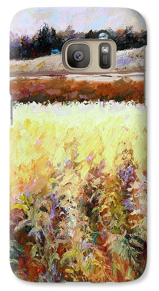 Galaxy Case featuring the painting Across The Cornfield by Bonnie Goedecke