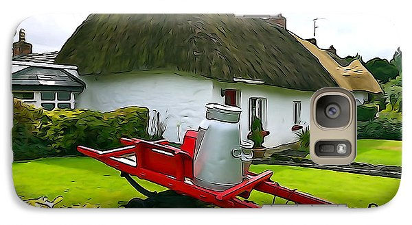 Galaxy Case featuring the photograph Adare Cottage by Charlie and Norma Brock