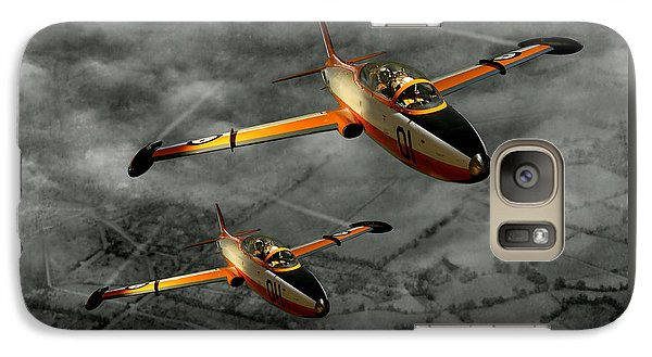 Galaxy Case featuring the photograph Aermacchi In Flight by Steven Agius