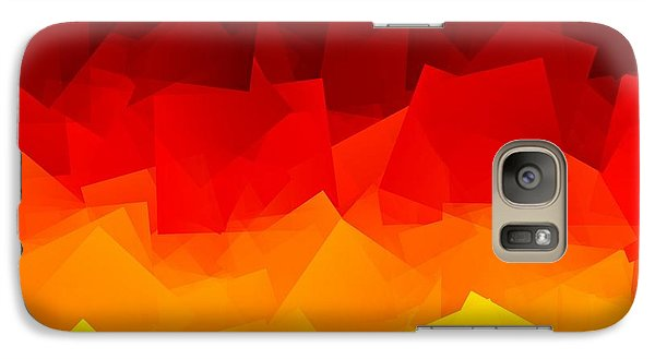 Galaxy Case featuring the digital art Afire by Jeff Iverson