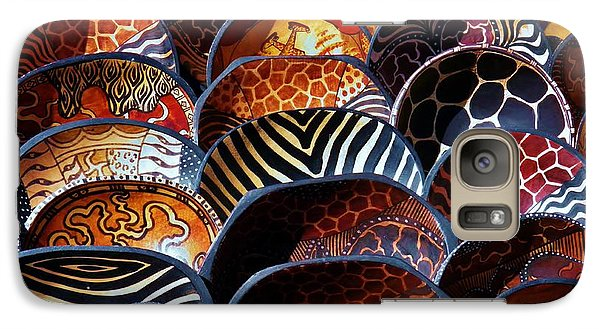 Galaxy Case featuring the photograph African Art  Wooden Bowls by Werner Lehmann