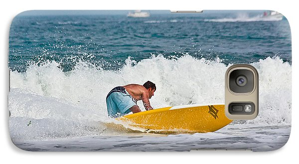 Galaxy Case featuring the photograph After Catching A Great Wave by Ann Murphy
