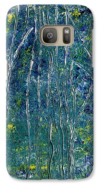 Galaxy Case featuring the painting After Monet by Dolores  Deal