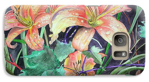 Galaxy Case featuring the painting After The Rain by Mary Kay Holladay