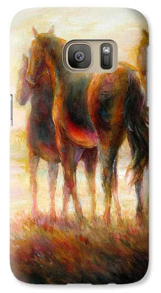 Galaxy Case featuring the painting Afternoon Glow by Bonnie Goedecke