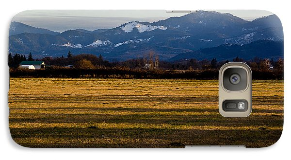 Galaxy Case featuring the photograph Afternoon Shadows Across A Rogue Valley Farm by Mick Anderson