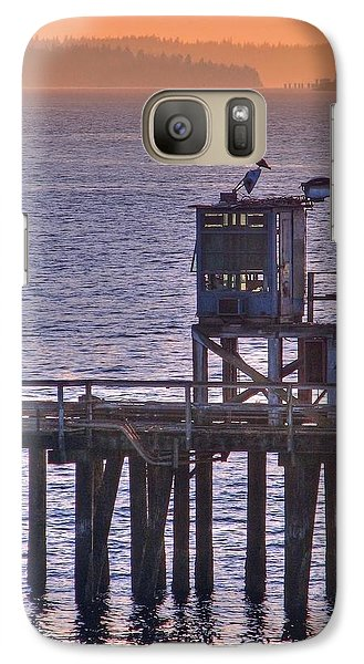 Galaxy Case featuring the photograph Aging Pier by Chris Anderson