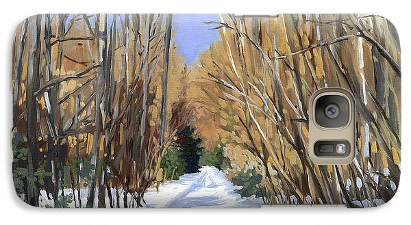 Galaxy Case featuring the painting Airline Trail In Winter by Alecia Underhill