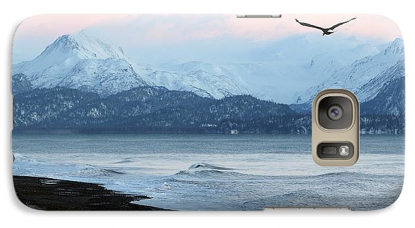 Galaxy Case featuring the photograph Alaskan Beach At Sunset by Michele Cornelius