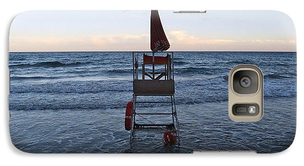 Galaxy Case featuring the photograph Alassio Sunset Facing East by Andy Prendy