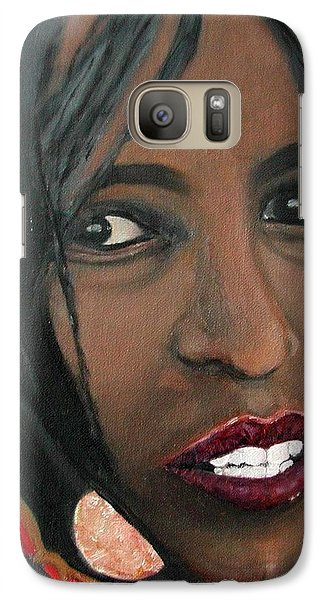 Galaxy Case featuring the painting Alem E. W. by Anna Ruzsan