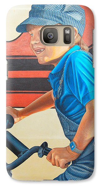 Galaxy Case featuring the painting All I Want For Christmas by AnnaJo Vahle