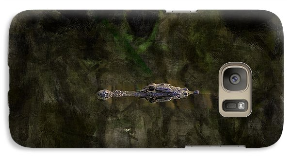 Galaxy Case featuring the photograph Alligator In Swamp by Dan Friend