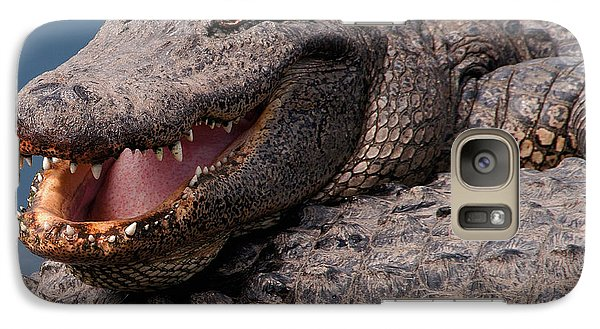 Galaxy Case featuring the photograph Alligator Smile by Art Whitton