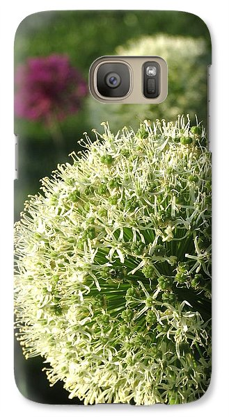 Galaxy Case featuring the photograph Allium Unique Floral by Rebecca Overton