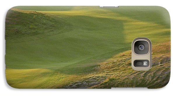 Galaxy Case featuring the photograph Almost Done - Chambers Bay Golf Course by Chris Anderson