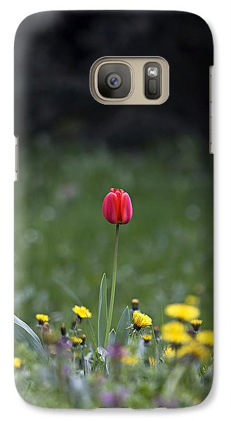 Galaxy Case featuring the photograph Alone by Raffaella Lunelli